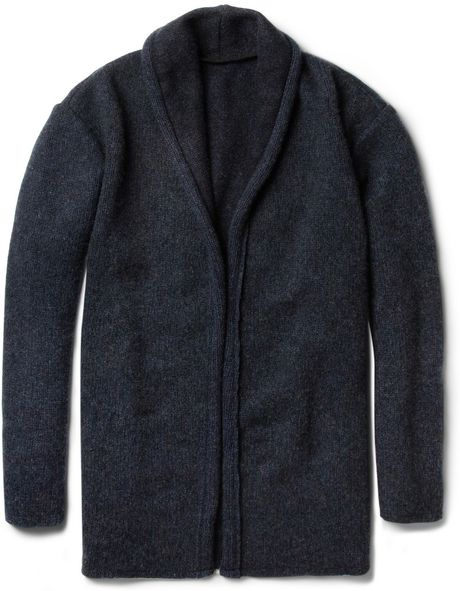 The Elder Statesman Oversized Cashmere Cardigan in Blue for Men
