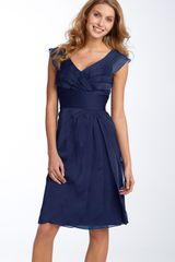 Adrianna Papell Tiered Chiffon Dress - Lyst