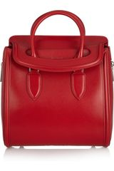 Alexander Mcqueen Heroine Large Polished Leather Tote in Red - Lyst