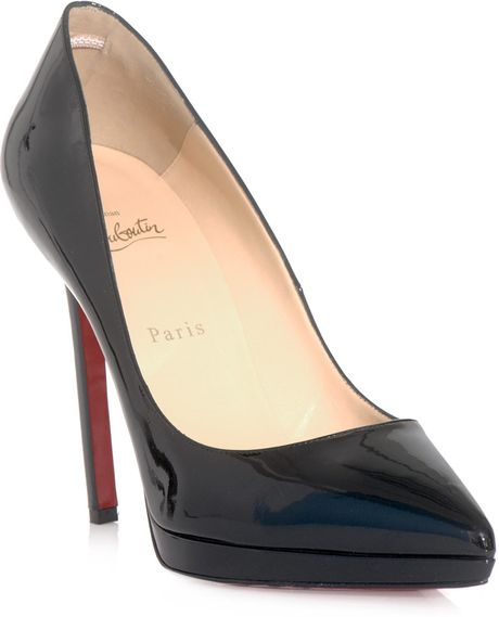 Christian Louboutin  Patent Leather Shoes in Black - Lyst