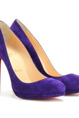 Christian Louboutin Filo 120 Suede Pumps in Purple (grey) - Lyst