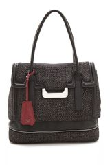 Diane Von Furstenberg Harper Laurel Metallic Tweed Bag - Lyst