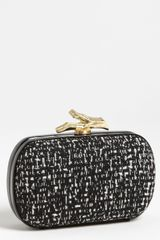Diane Von Furstenberg Lytton Small Tweed Leather Clutch - Lyst