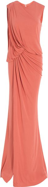 Elie Saab Sleeveless Long Jersey Gown in Pink