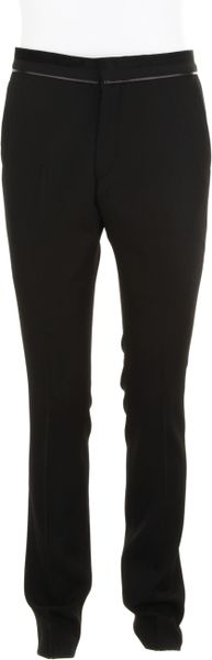 Givenchy Fitted Black Trousers in Wool in Black - Lyst