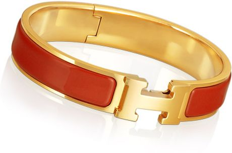Hermes Clic H Bracelet in Red - Lyst