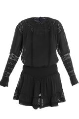 Isabel Marant Helly Embroideredlace Dress - Lyst