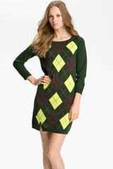 Juicy Couture Argyle Sweater Dress - Lyst