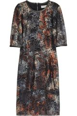 Mulberry Leather Trimmed Tie Dye Lace Dress - Lyst
