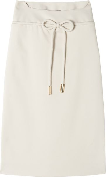 Preen Scuba Crepe Pencil Sue Skirt in White - Lyst