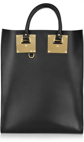 Sophie Hulme Leather Tote - Lyst