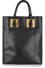 Sophie Hulme Buckle Leather Tote