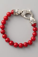 Stephen Webster Red Coral Bead Bracelet  - Lyst
