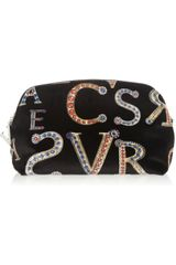 Versace Printed Velvet Clutch in Black - Lyst