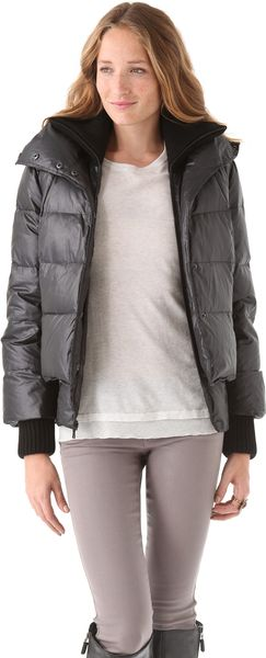Alice + Olivia Judy Quilted Puffer Jacket in Black - Lyst