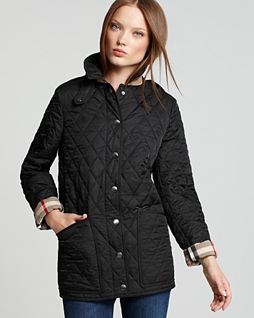 Burberry Brit Fairstead Quilted Jacket in Black | Lyst : burberry quilted jacket with hood - Adamdwight.com