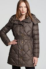 Burberry Eddingly Quilted Down Coat - Lyst