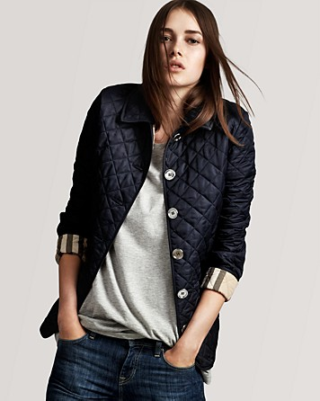 Lyst Burberry Brit Quilted Jacket In Blue