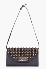 Chloé Black Beaded Sally Clutch in Black - Lyst