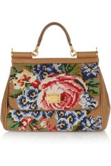 Dolce & Gabbana Floral Tapestry and Leather Tote - Lyst