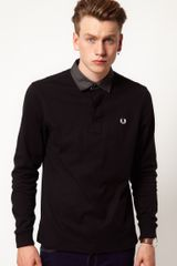 Fred Perry Rugby Shirt Oxford Collar - Lyst