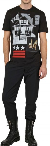 Givenchy American House Jersey Slim Fit T-Shirt in Black for Men - Lyst
