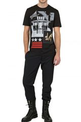 Givenchy American House Jersey Slim Fit TShirt in Black for Men - Lyst