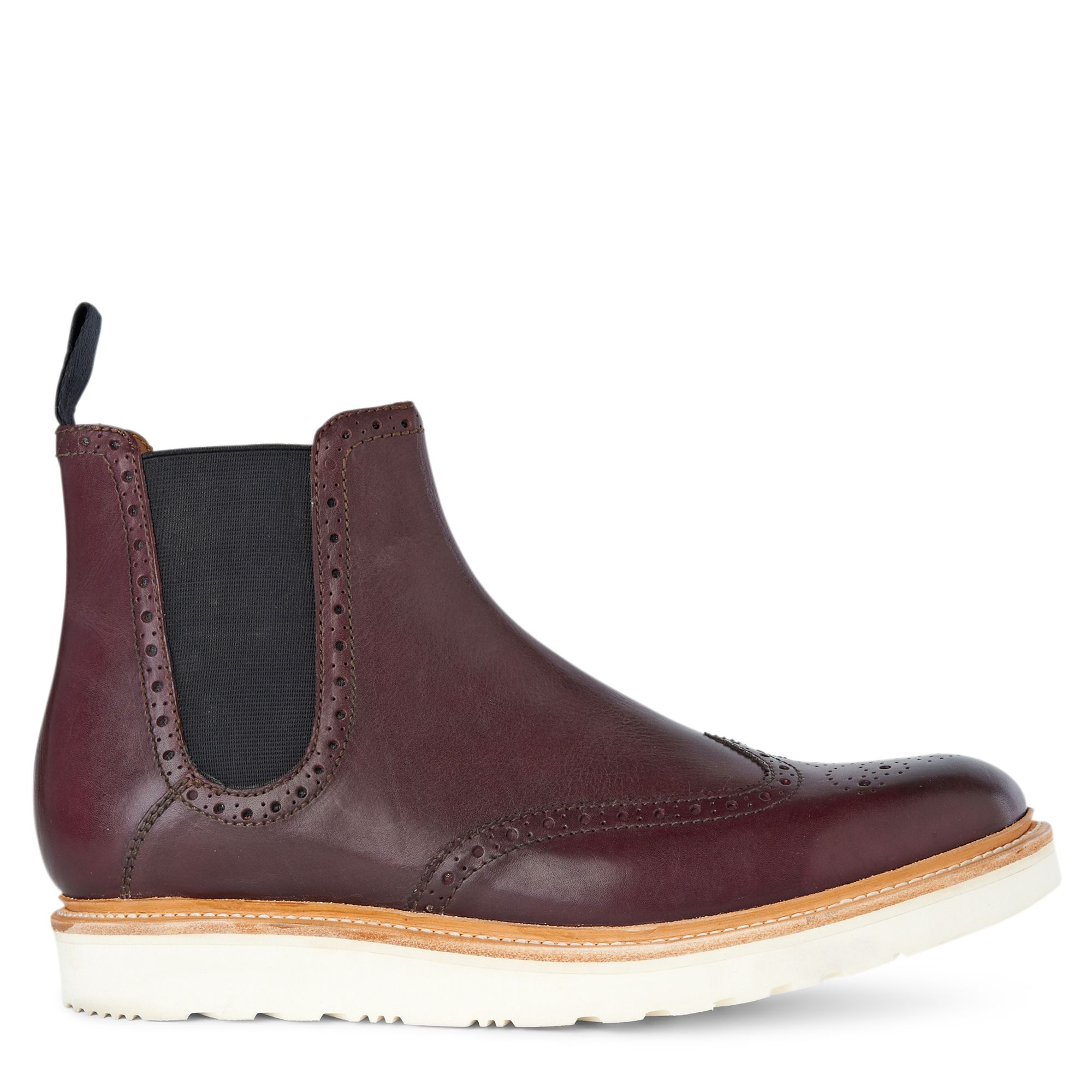 grenson alistair wedged chelsea boots in purple for