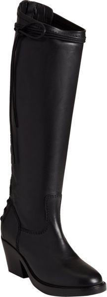 Haider Ackermann Laceup Back Knee Boot - Lyst