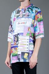 Jeremy Scott Printed Collage Tshirt in Multicolor for Men - Lyst