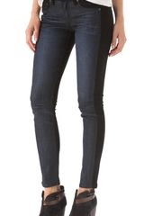 Rag & Bone Jekyll Jeans with Suede in Blue - Lyst
