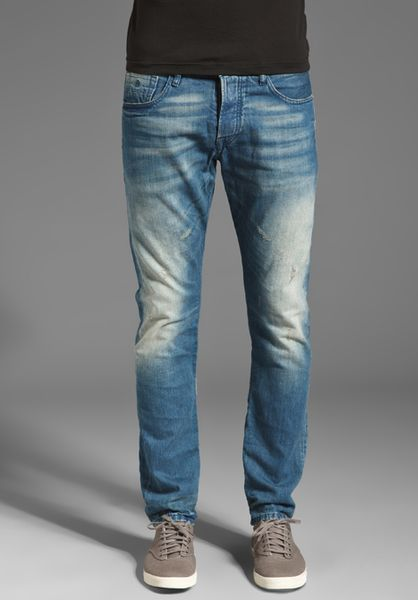 scotch soda ralston slim jeans in blue for men yankees wash lyst. Black Bedroom Furniture Sets. Home Design Ideas
