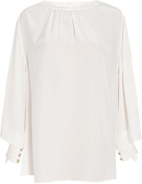 Temperley London Ravenna Bette Top in White (black) - Lyst