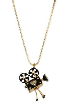 Betsey Johnson Goldtone Glass Vintage Camera Pendant - Lyst