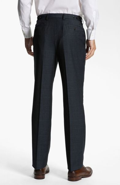 Calibrate Side Tab Wool Pants In Blue For Men Navy Stripe