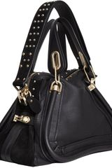 Chloé Medium Paraty Military Satchel in Black (gold) - Lyst