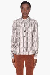 Elizabeth And James Ivory Silk Presley Blouse - Lyst