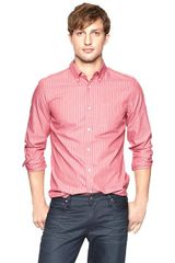 Gap Modern Contrast Stripe Oxford Shirt - Lyst