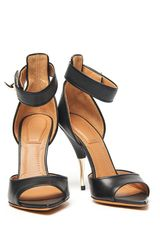Givenchy Shark Lock Sandal in Black (gold) - Lyst