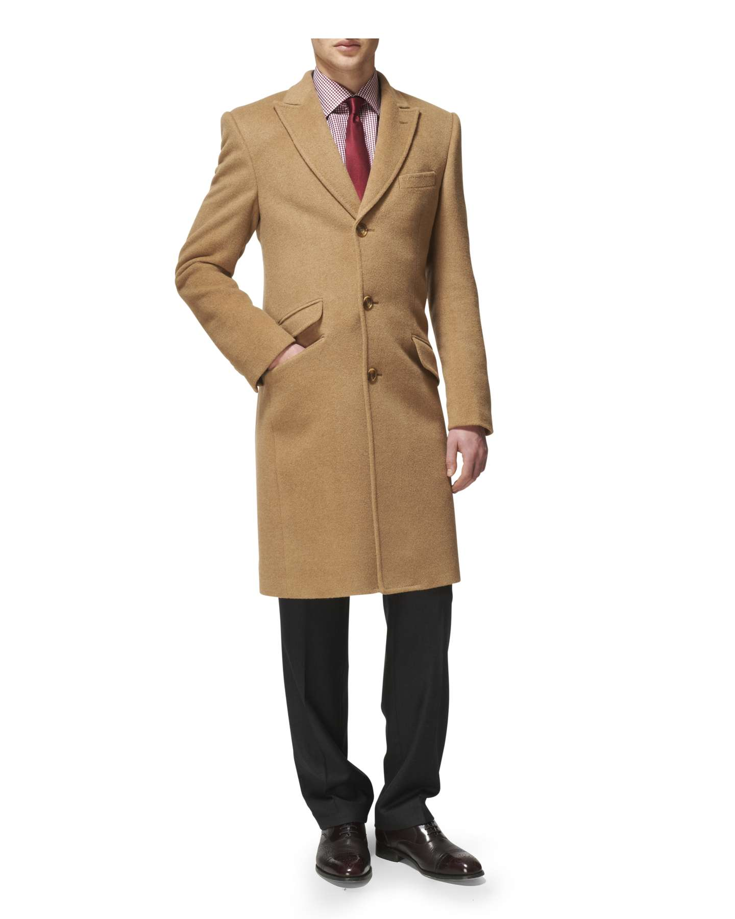 Camel overcoat men