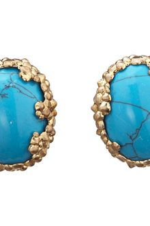 L'Agence Turquoise Cosmic Bezel Earrings - Lyst