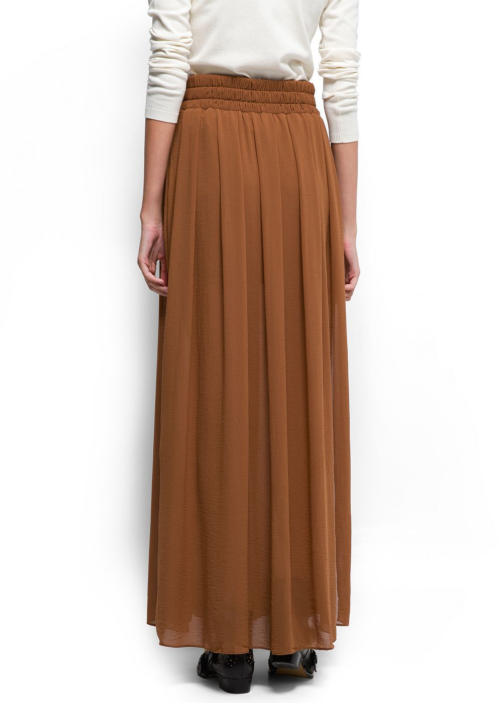 Long Brown Skirt - Skirts
