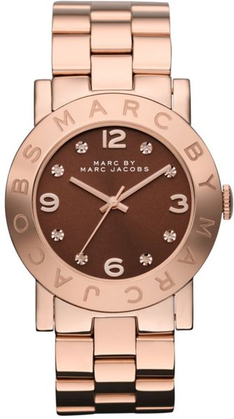 Marc By Marc Jacobs  Ion Plated Stainless Steel Bracelet  in Pink (rose) - Lyst