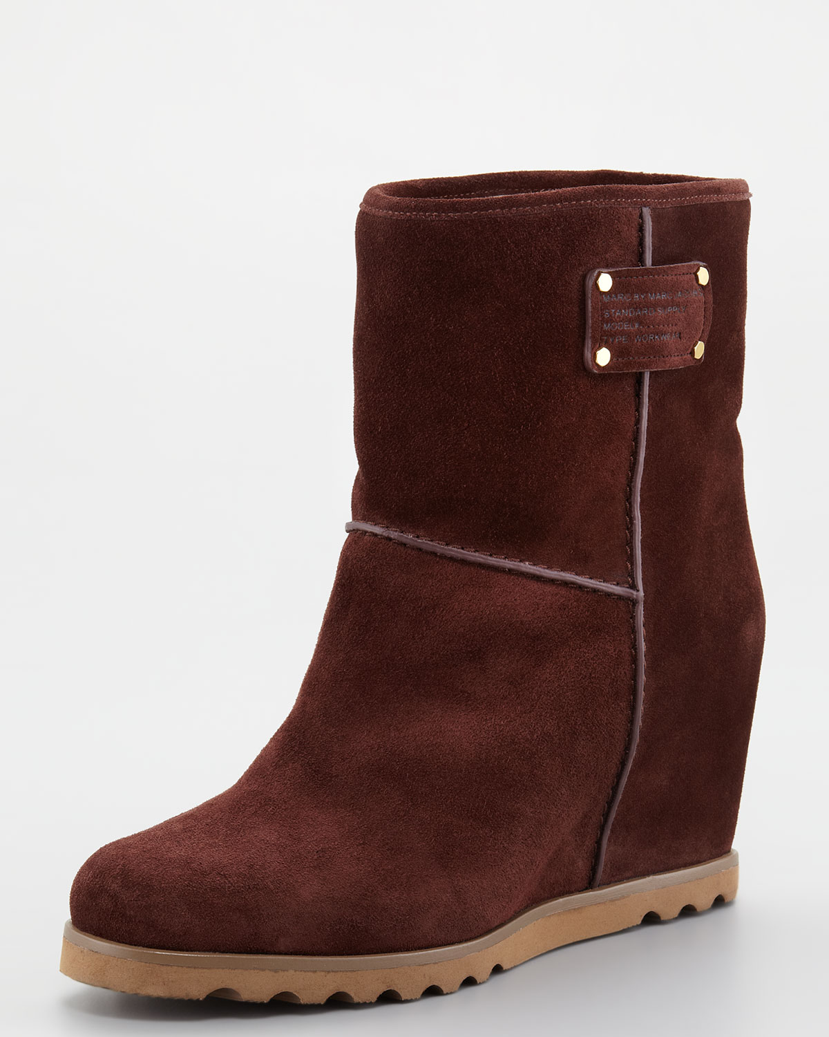 marc by marc winter warming wedge boots in brown