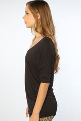 Obey The Dreamstate Dolman Top in Black in Black - Lyst