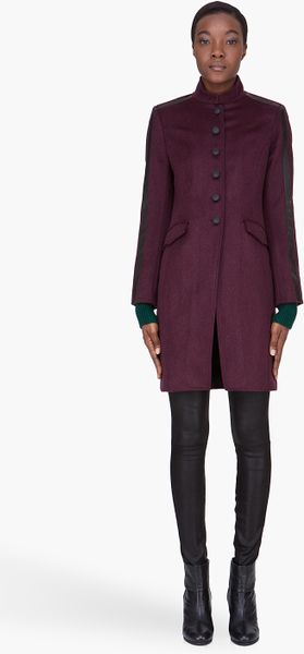 Rag & Bone Burgundy Maharaja Coat in Purple (burgundy) - Lyst