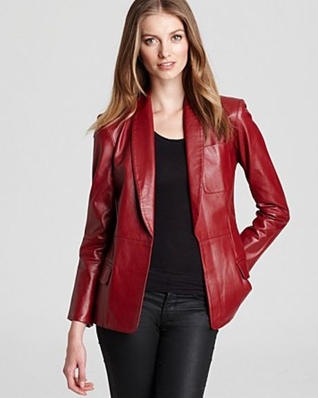 Sachin & Babi Blazer Heidi Leather in Red (wine) - Lyst
