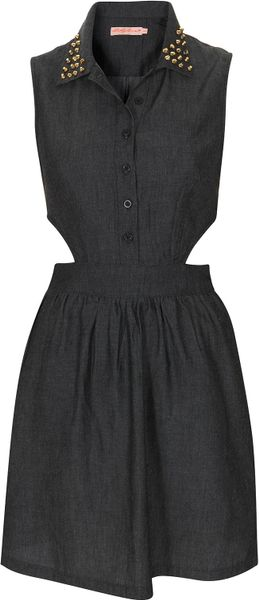 Topshop Denim Cut Out Dress By Oh My Love in Blue - Lyst