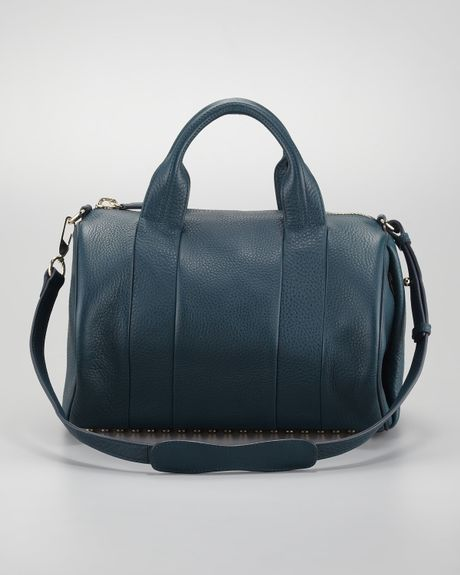 alexander wang rocco duffel bag in blue teal lyst. Black Bedroom Furniture Sets. Home Design Ideas