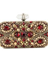 Marchesa Crystal Embroidered Clutch